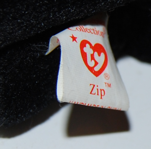 Ty beanie baby kitty zip x
