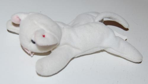 Ty beanie baby kitty white