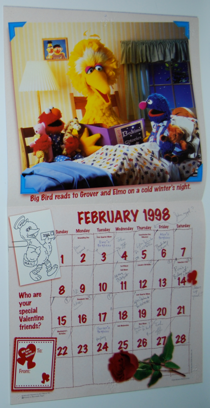 Sesame street calendar 1998 4