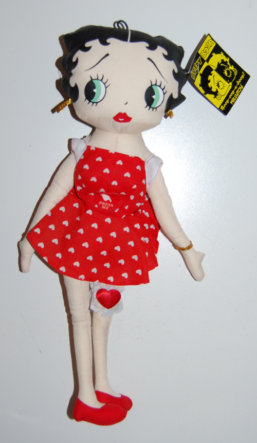 Betty boop talking plush doll