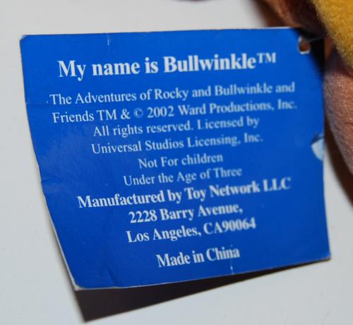 Bullwinkle plush toy xx