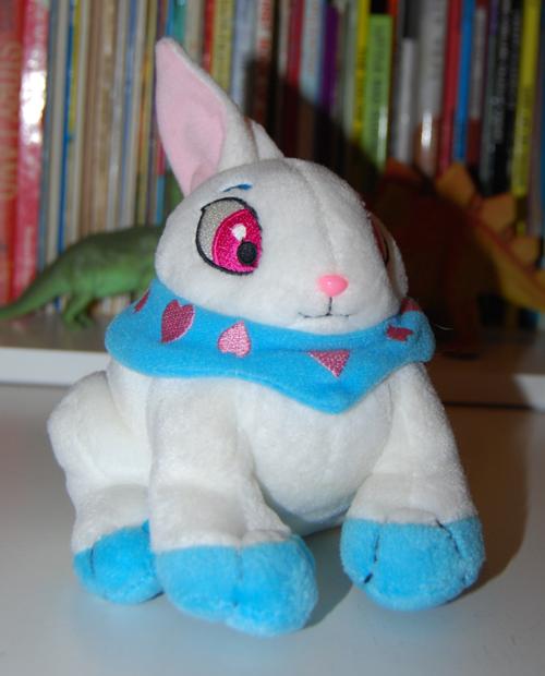 Neopets white rabbit plush toy 1