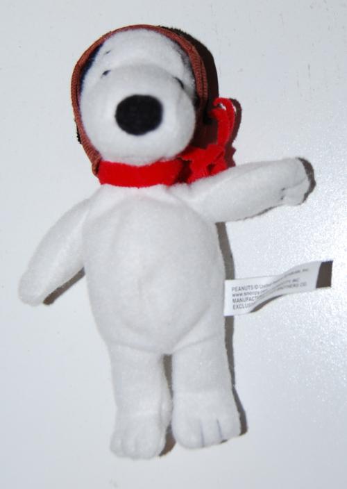 Snoopy red baron mini plush toy