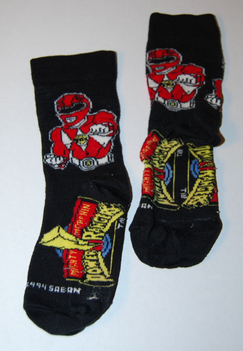 Vintage power ranger socks