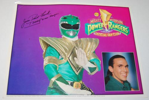Power rangers autograph picture x