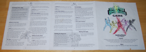 Milton bradley power rangers board game8