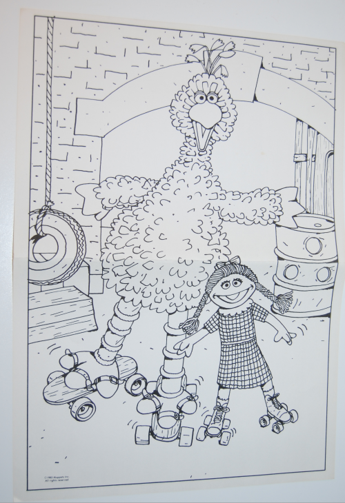 Sesame street big bird whitman coloring pages 3