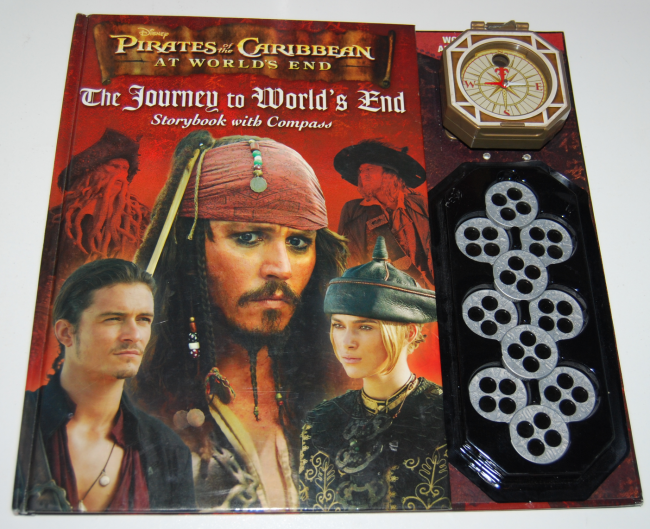 pirates of the caribbean book & compass