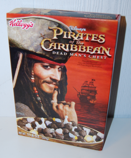 Kellogg's pirates of the caribbean cereal