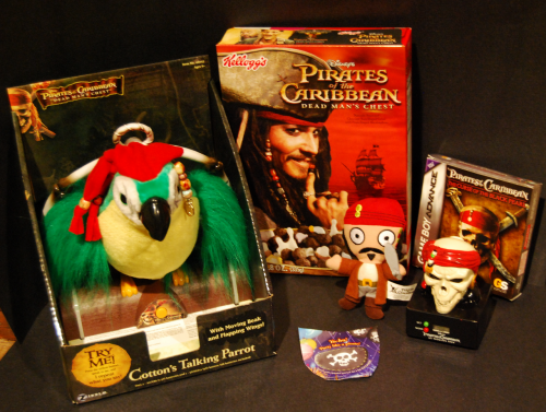 Pirates of the caribbean happy meal toys lot