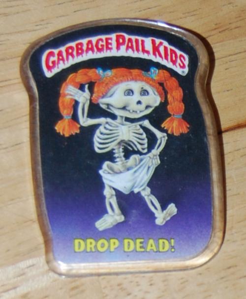 Garbage pail kids button 1