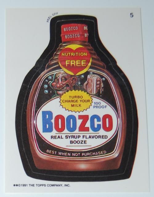 Boozco wacky pack 1991