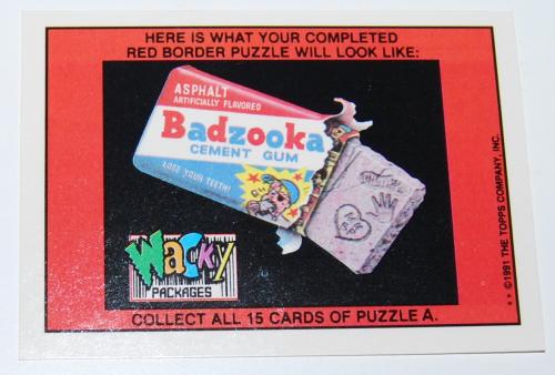 Boozco wacky pack 1991 x