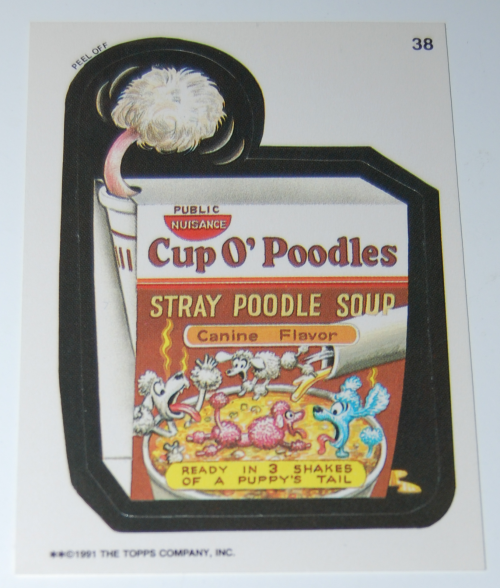 Cup'o poodles wacky pack