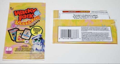 Wacky pack flashback stickers 2008
