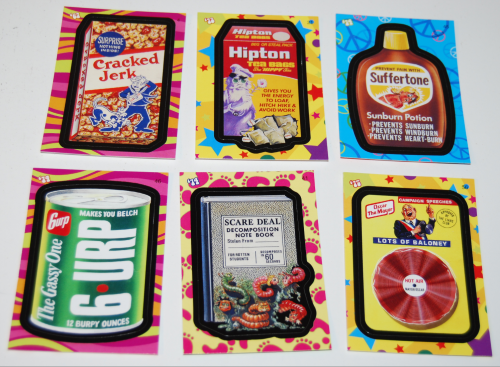 Wacky pack flashback stickers 2008 1
