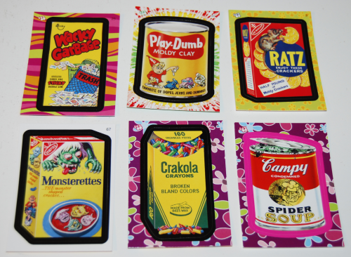 Wacky pack flashback stickers 2008 2