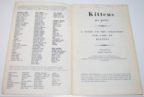 Kittens vintage guide 1
