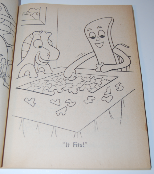 Gumby & pokey coloring book whitman 3