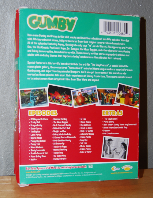 Gumby 60s dvd set volume 2 blockheads 1