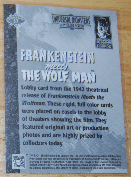 Universal monsters cards 17