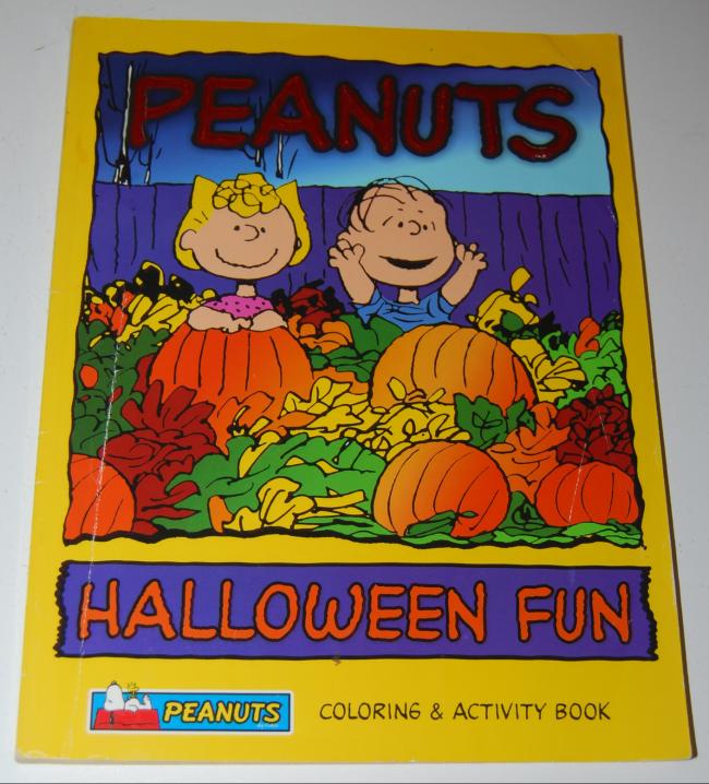 peanuts halloween coloring books