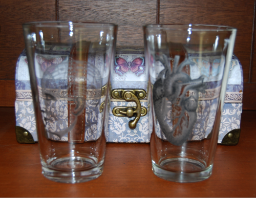 Anatomy pint glasses