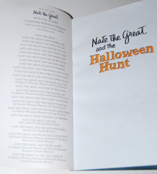 Nate the great halloween hunt 1