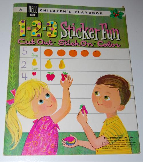 1961 dell 123 sticker fun playbook