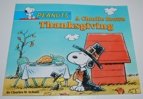 A charlie brown thanksgiving book