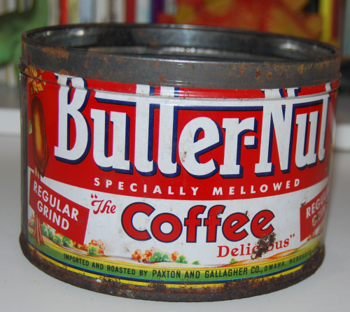 Vintage butter nut coffee tin