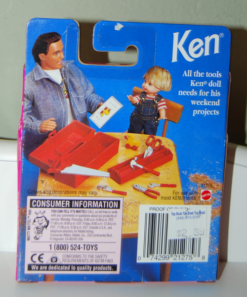 Ken doll tool box set x