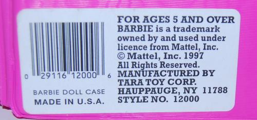 Barbie doll case 1997