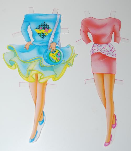 Barbie deluxe paperdoll 1991 3