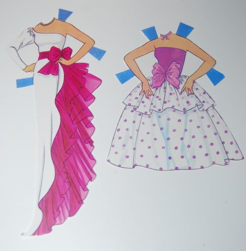Day to night barbie paperdoll 1985 2
