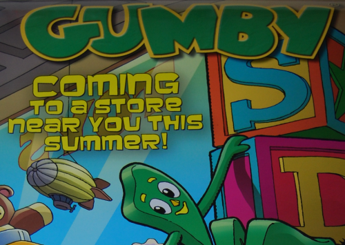 Gumby 2017 promo poster papercutz 1