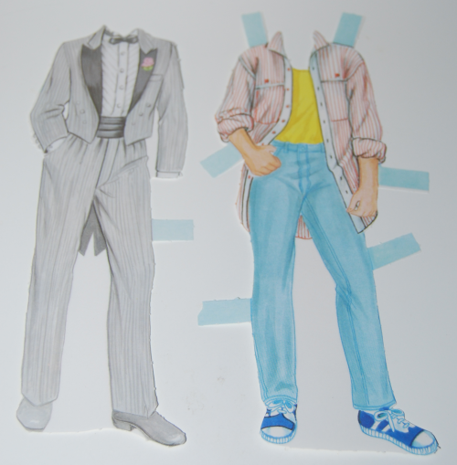 Bride & groom paperdolls 1991 12