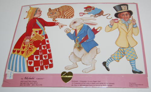 Alice in wonderland paperdoll by peck gandre 1