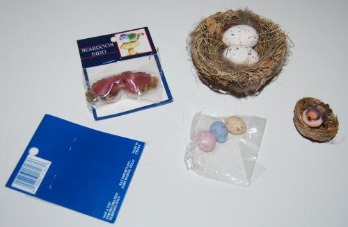 Craft bird nest eggs