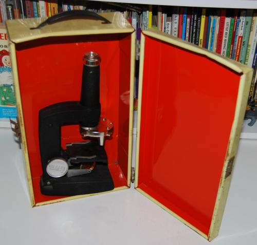 Vintage gilbert microscope 1