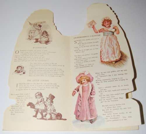 Little flower girl book & paper dolls 4