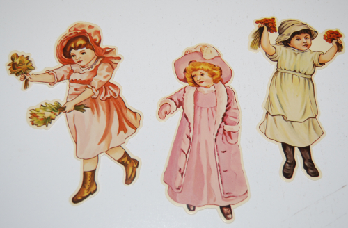Little flower girl book & paper dolls 2