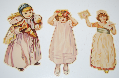 Little flower girl book & paper dolls 3