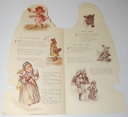 Little flower girl book & paper dolls 7