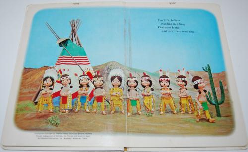 Ten little indians puppet storybook 2