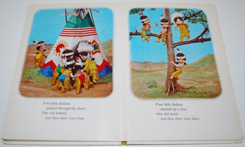 Ten little indians puppet storybook 6
