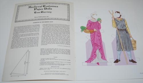 Medieval costumes paperdolls 1