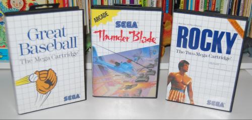 Vintage sega master system games 1