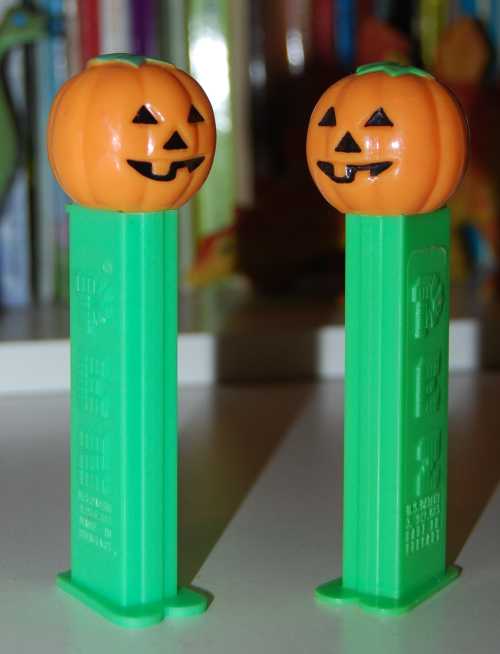 Jack o lantern pez dispensers