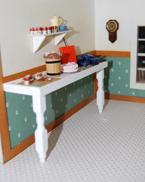 Yellow house kitchen
